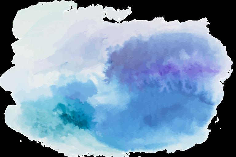 A blob of watercolour paint